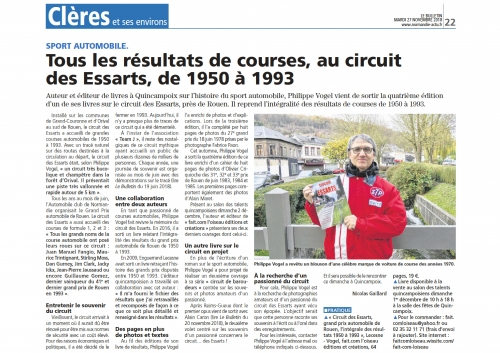 Philippe Vogel, circuit des Essarts, Enguerrand Lecesne