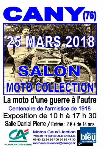 Cany Barville 2018, salon moto de collection, Caux'llction, Philippe Vogel