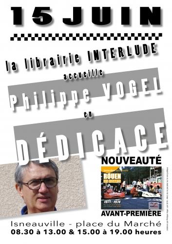 Philippe Vogel, Isneauville, dédicace, Rouen-Les Essarts