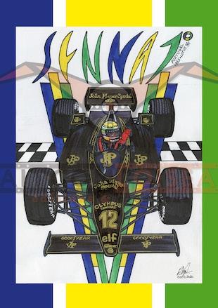 Ayrton Senna, Lotus 97T, Renault, Portugal, Philippe Vogel