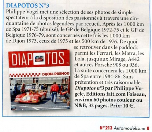 DIAPOTOS, Philippe Vogel, Spa, Francorchamps, Groupe C