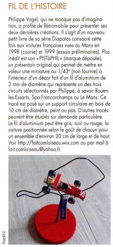 PISTàPHIL, Philippe Vogel, Monza, Dijon Prenois, 1/43e