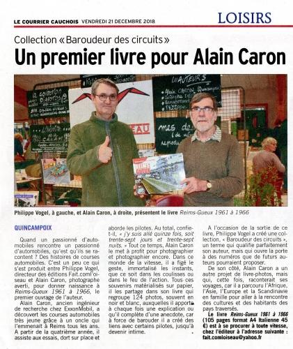 Alain Caron, Philippe Vogel, Baroudeur des circuits, Reims-Gueux