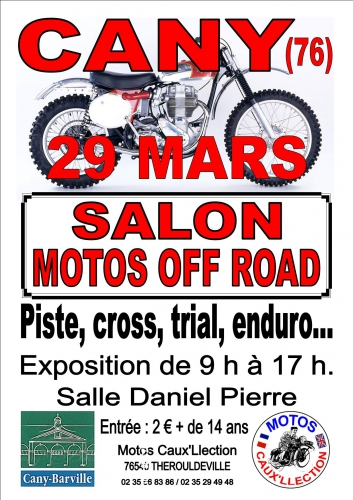 Salon motos off-road, Cany-Barville, Philippe Vogel, Christophe Dépinay